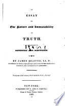 An Essay On The Nature And Immutability Of Truth In Opposition To  An Essay On The Nature And Immutability Of Truth In Opposition To Sophistry   James Beattie Full View   How To Start A Proposal Essay also Professional Business Plan Writers In Chicago  Thesis Argumentative Essay