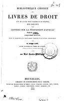 Bibliothèque choisie des livres de droit