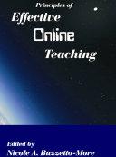 Principles of Effective Online Teaching Pdf/ePub eBook