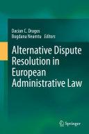 Pdf Alternative Dispute Resolution in European Administrative Law Telecharger