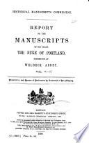 The Manuscripts of His Grace the Duke of Portland