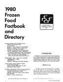 Frozen Food Factbook and Directory