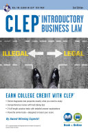 CLEP(R) Introductory Business Law Book + Online