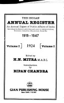 The Indian Annual Register