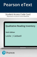 Qualitative Reading Inventory Pearson Etext Access Card