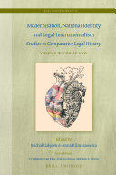 Modernisation  National Identity and Legal Instrumentalism  Vol  II  Public Law
