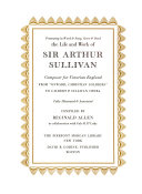 Presenting In Word Song Score Deed The Life And Work Of Sir Arthur Sullivan Composer For Victorian England