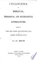 Cyclopaedia of Biblical, Theological, and Ecclesiastical Literature