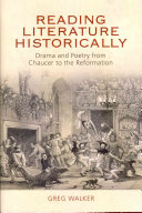 Reading Literature Historically