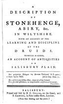 A Description of Stonehenge, Abiry, &c. in Wiltshire