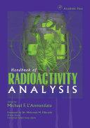 Handbook of Radioactivity Analysis Pdf/ePub eBook