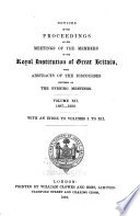Notices Of The Proceedings At The Meetings Of The Members Of The Royal Institution With Abstracts Of The Discourses
