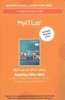 Myitlab with Pearson Etext--Access Card--For Exploring Microsoft Office 2016