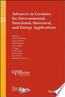Advances in Ceramics for Environmental  Functional  Structural  and Energy Applications