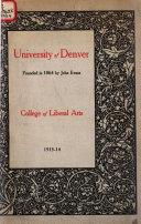 University of Denver Catalog