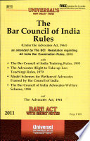 The Bar Council of India Rules