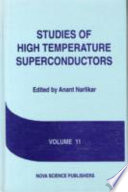 Studies of High Temperature Superconductors Book