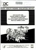 Exxon Chemical Company  Pottsville Film Plant  Polyethylene Film Department  Mar lin  Pennsylvania