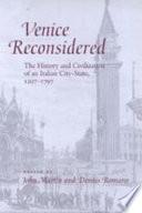Venice Reconsidered Book