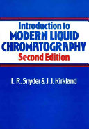 Introduction to Modern Liquid Chromatography Book