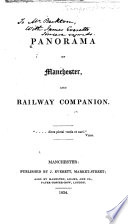 Panorama of Manchester  and Railway Companion