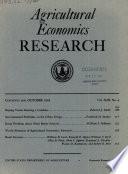 Agricultural Economics Research