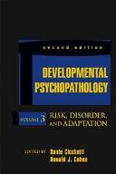 Developmental Psychopathology, Volume 3