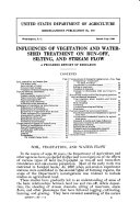 Influences of Vegetation and Watershed Treatments on Run-off, Silting, and Stream Flow