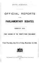 Official Reports Of The Parliamentary Debates