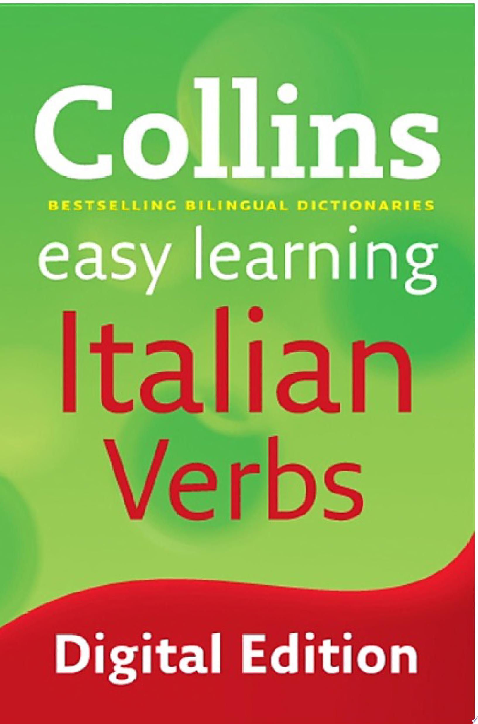 Easy Learning Italian Verbs  Collins Easy Learning Italian