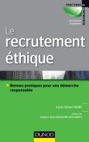 Pdf Le recrutement éthique et responsable Telecharger