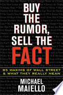 Buy the Rumor  Sell the Fact