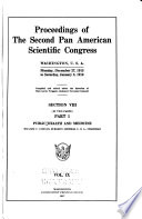 Proceedings of the Second Pan American Scientific Congress