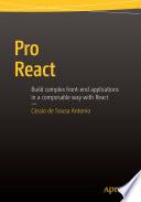 """Pro React"" by Cassio de Sousa Antonio"