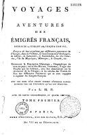 Voyages et aventures des émigrés français depuis le 14 juillet 1789 jusqu'à l'an VII