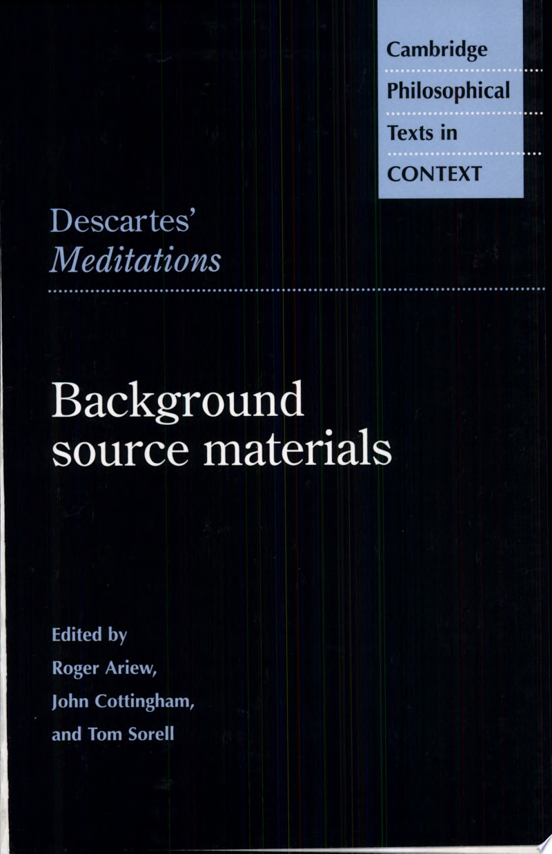 Descartes' Meditations banner backdrop