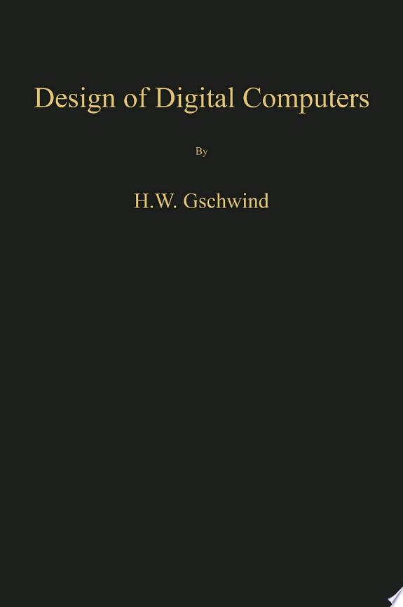 Design of Digital Computers