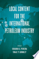 Local Content for the International Petroleum Industry