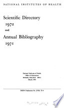 Scientific Directory and Annual Bibliography Book