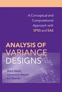 Analysis of Variance Designs