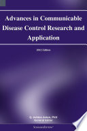 Advances In Communicable Disease Control Research And Application 2012 Edition