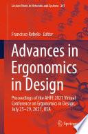Advances in Ergonomics in Design Book