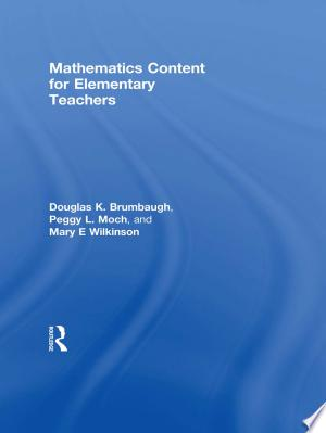 Download Mathematics Content for Elementary Teachers Books - RDFBooks