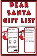 Dear Santa Gift List