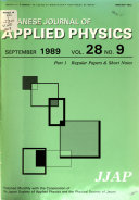 Japanese Journal Of Applied Physics Book PDF