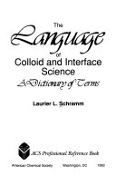 The Language of Colloid and Interface Science