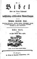 Die Bibel Alten und Neuen Testaments