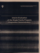 Interim Evaluation of the Single Family Property Disposition Demonstration