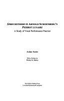 Sprechstimme in Arnold Schoenberg's Pierrot Lunaire