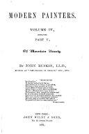 Modern Painters Pt 5 Of Mountain Beauty